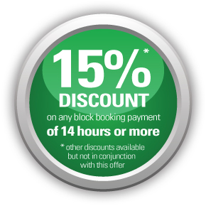 15% off with any block booking payment of 14 hours or more - AMB Driving Tuition Exeter
