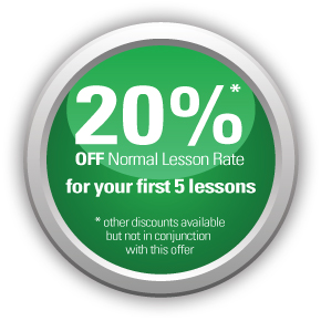 20% off normal lesson rate for your first 5 lessons - AMB Driving Tuition Exeter