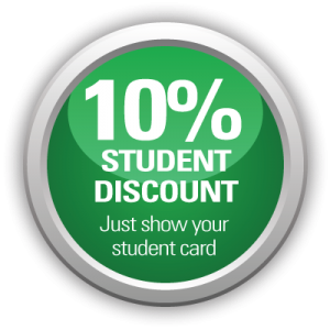 10% student discount on Exeter driving lessons with AMB Driving Tuition