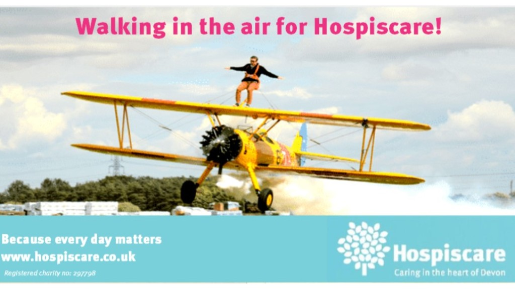 Adrian Burrows Walking in the air for Hospice